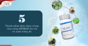 thành phần thảo dược trong viên uống hpskin