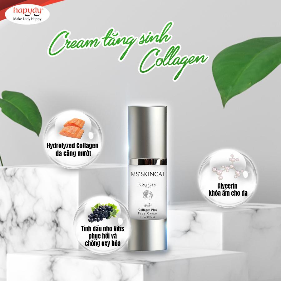 Kem bôi Collagen Ms' Skincal có thành phần từ thiên nhiên