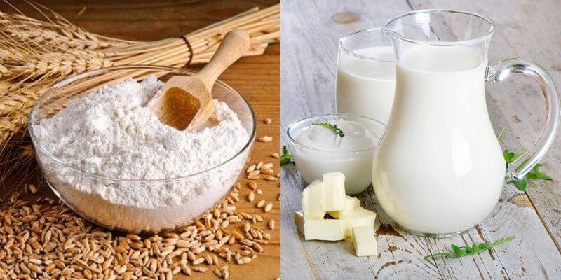 Làm trắng da tự nhiên bằng bột cám gạo với sữa tươi không đường