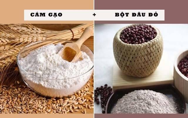 Làm trắng da tự nhiên với bột cám gạo và bột đậu đỏ