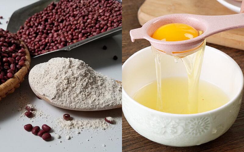 Làm trắng da tự nhiên với bột đậu đỏ và trứng gà